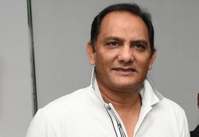 Mohammed Azharuddin batting