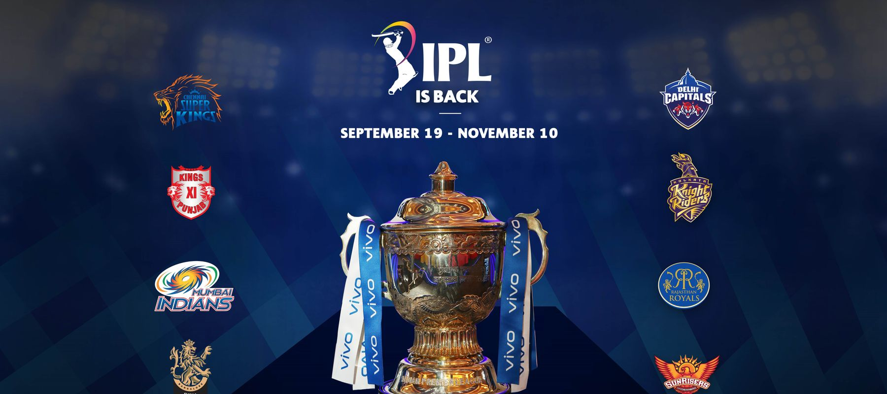 IPL 2020 schedule squads live streming