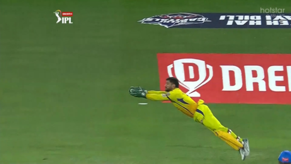 Watch: MS Dhoni Takes A Brilliant Diving Catch To Dismiss Shreyas Iyer