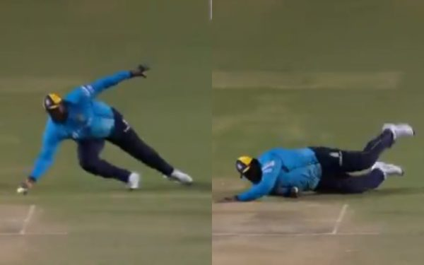 Rahkeem Cornwall Takes A Sensational Catch In CPL 2020