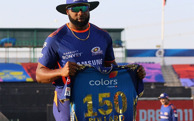Kieron Pollard Makes 150th Appearance For Mumbai Indians In The IPL