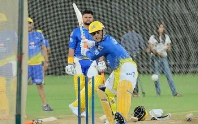 MS Dhoni Practice session IPL 2021