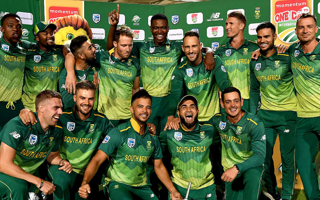 South africa squad Momentum title sponsors South Africa