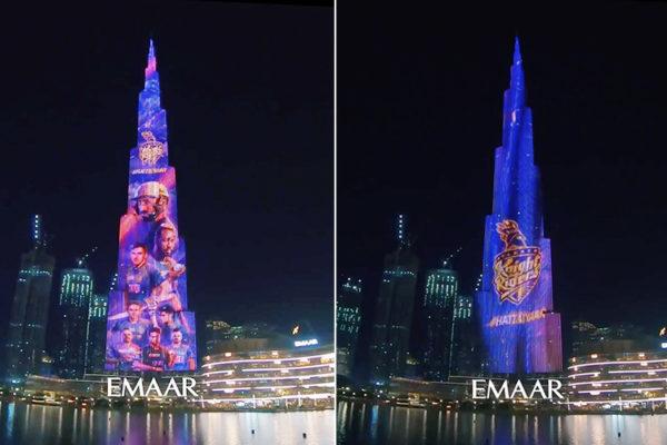 Burj Khalifa KKR Colours