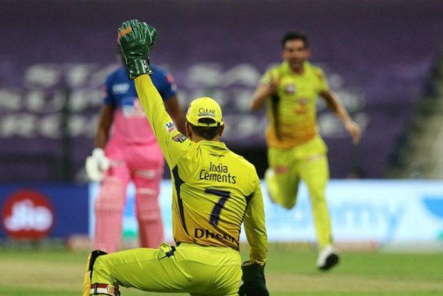 Watch - Vintage MS Dhoni As He Dives To His Left To Take A Catch