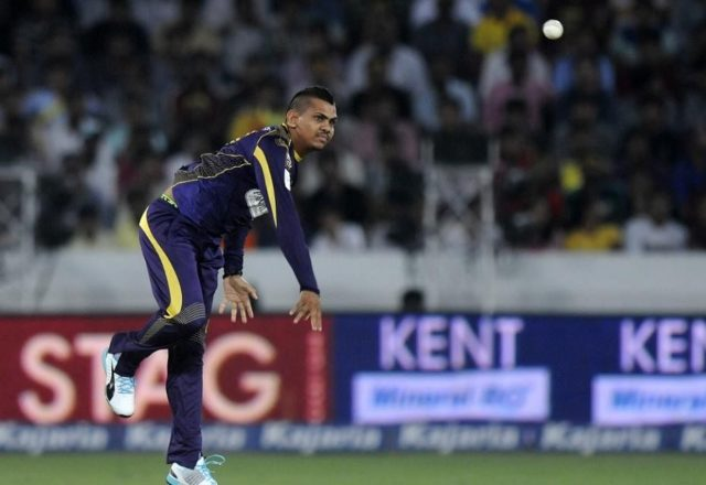 Sunil Narine bowling action reported