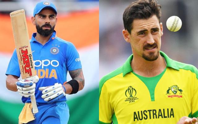 Kohli vs Starc India vs Australia