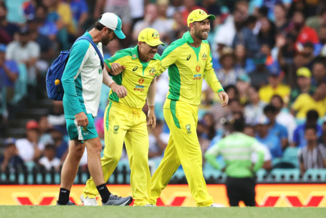 Watch - David Warner Forced To Leave Field With Injury