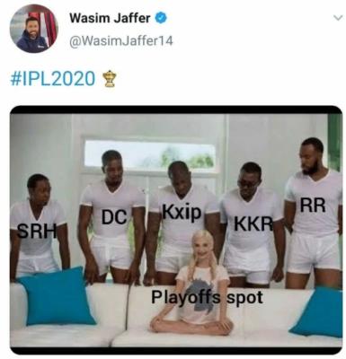 Wasim Jaffer Deletes Creepy Tweet on IPL 2020 Playoffs
