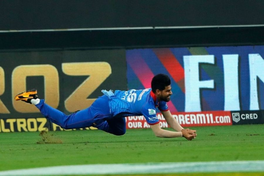 Watch Lalit Yadav's Diving Effort to Dismiss Rohit Sharma