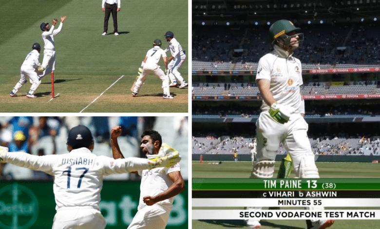 Tim Paine Dismissal-R Ashwin