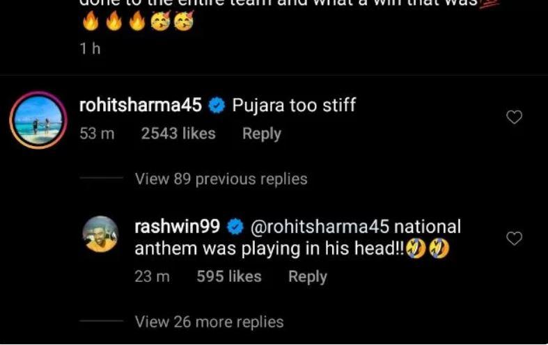 Rohit Sharma Ravichandran Ashwin