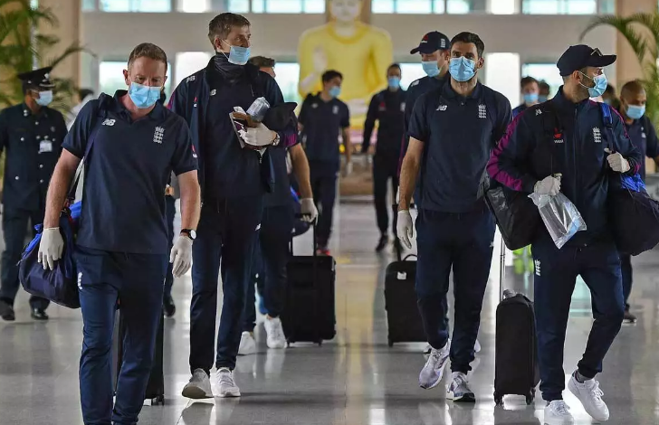 England Cricketers arrive in Chennai