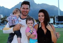 Graeme Smith with his son.