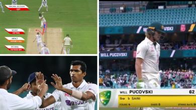 navdeep saini maiden Test wicket