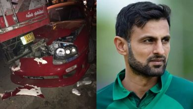 Shoaib Malik car accident