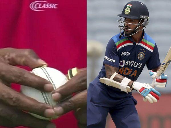 Damaged ball 1st ODI