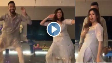 Krunal Pandya dancing wife