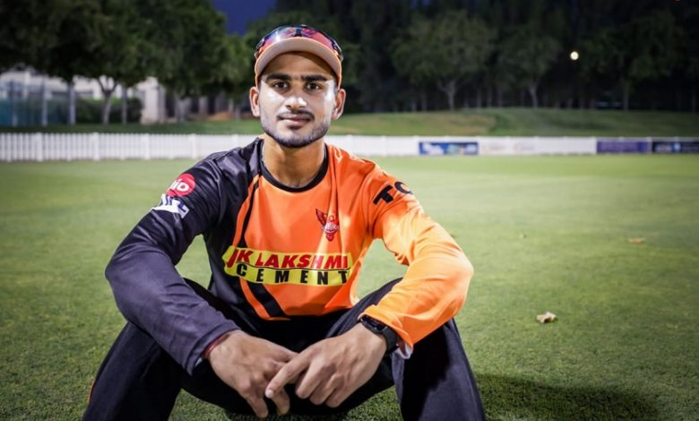 Virat Singh representing Sunrisers Hyderabad in IPL 2021