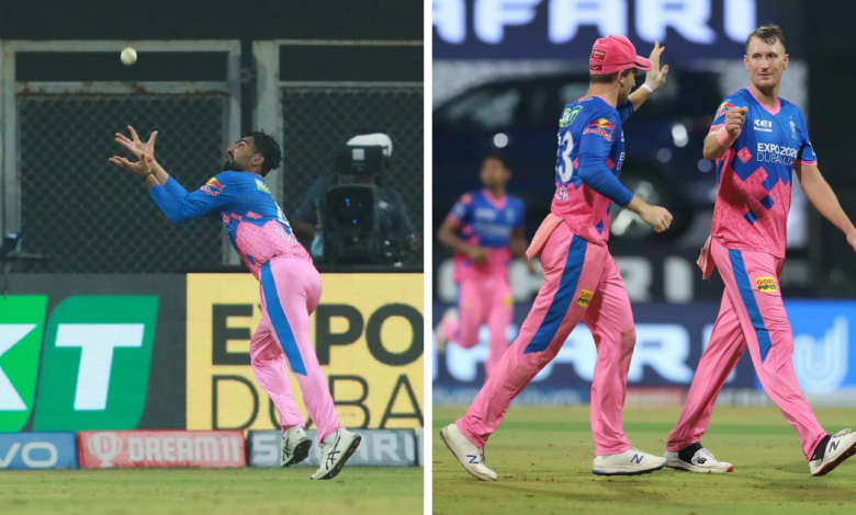 Rahul Tewatia takes amazing catch