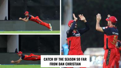 Dan Christian catch vs KKR IPL 2021