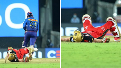 AB de Villiers run out