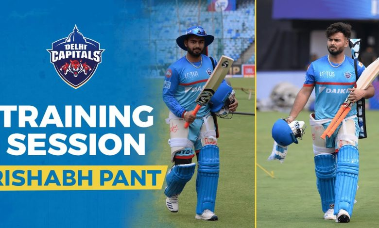 Rishabh Pant training session