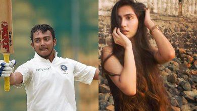 Prithvi Shaw's rumored girlfriend praises the opener (PC- TimesNow)