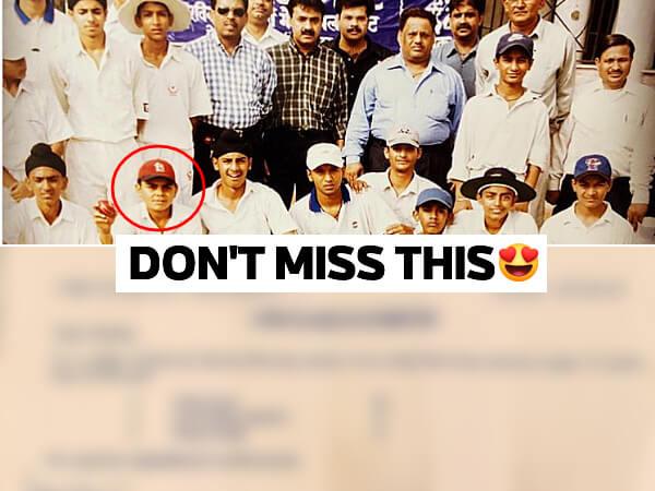 Virat Kohli school photo