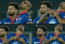 Shikhar Dhawan reacts
