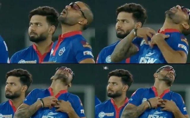Shikhar Dhawan reacts