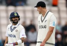 Virat Kohli out for 44 to his RCB teammate Kyle Jamieson on Day 3 (Reuters Photo)