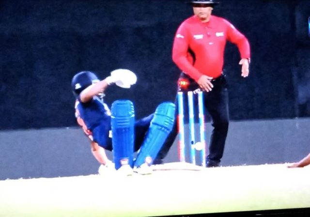 Manish Pandey run out