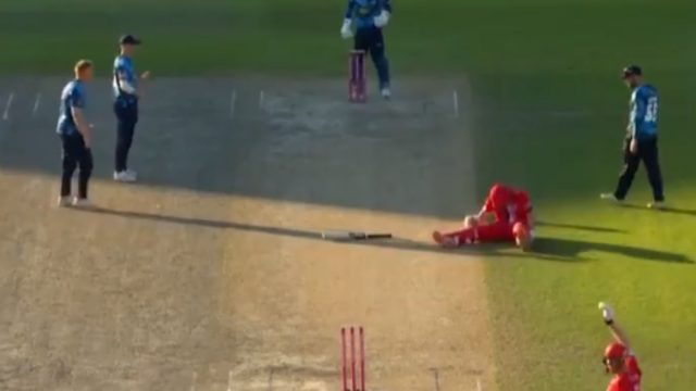 Yorkshire run out