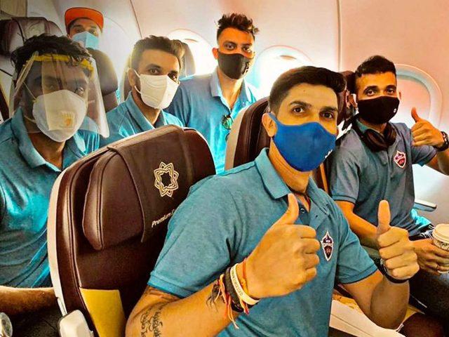 Delhi Capitals players reach UAE
