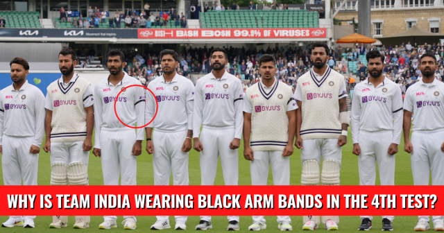 India Sporting Black Armbands at The Oval