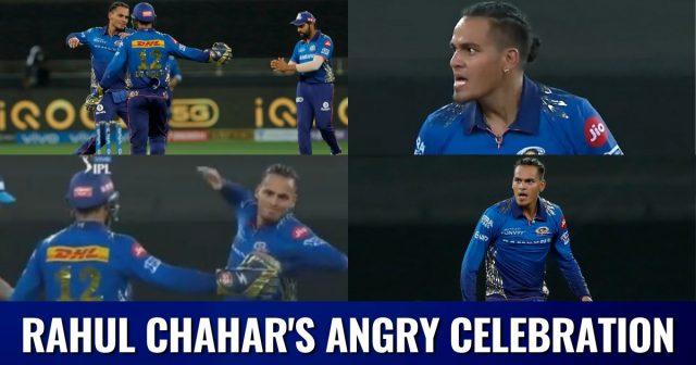 Rahul Chahar Angry
